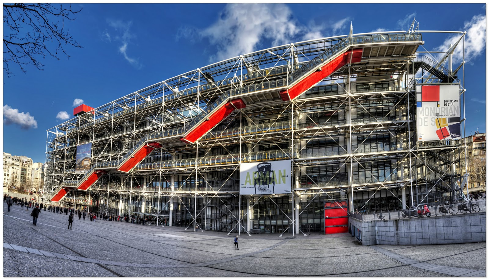 avrupa rüyası The Pompidou Centre, Paris